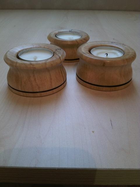 Bougeoir en bois tourn - Porte bougie en bois ...